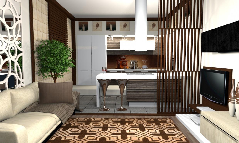Гостиная совмещенная с кухней в Другое Other изображение