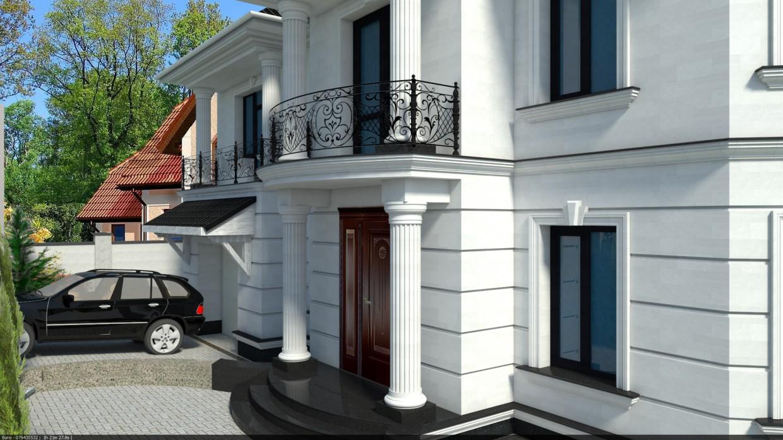 Limestone facade in 3d max vray image