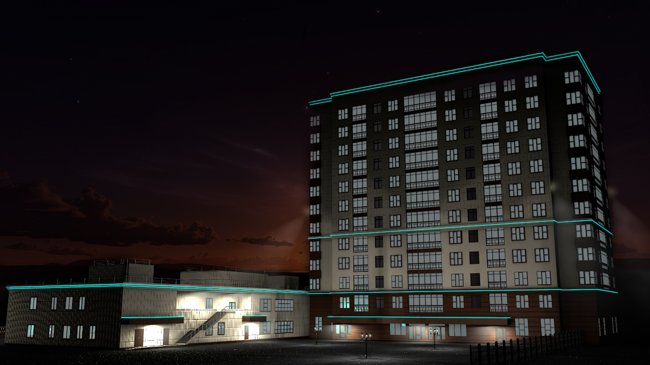 Apartment building in Cinema 4d Other image