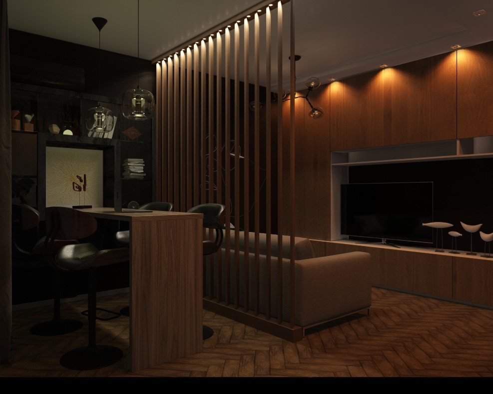 Interior living room in 3d max vray 3.0 image