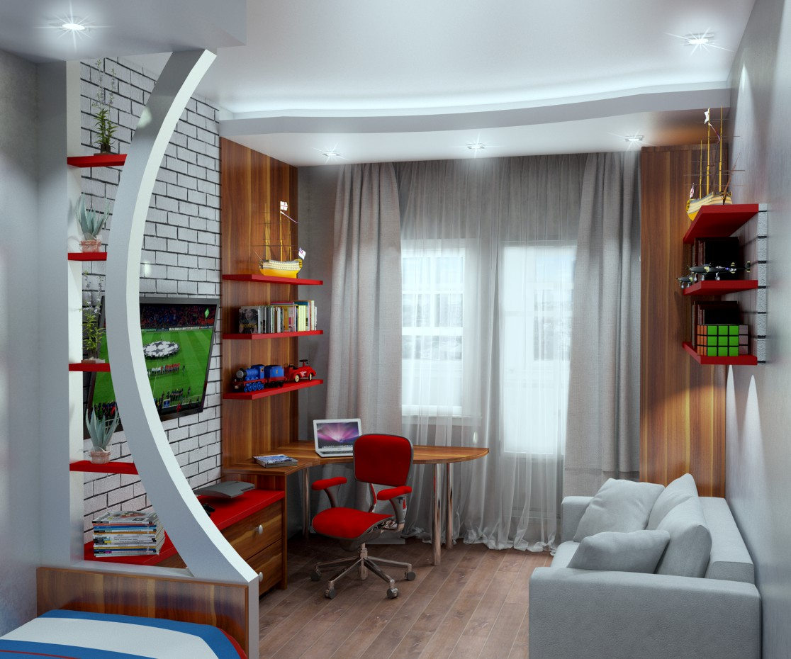 Children's room in 3d max vray image