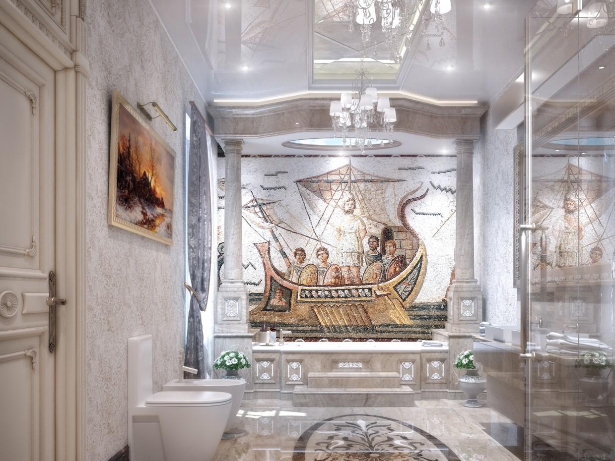 imagen de Baño principal en 3d max vray