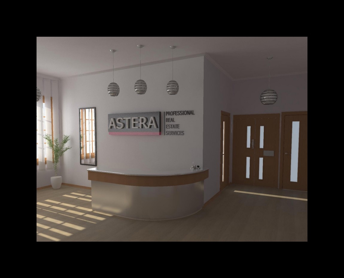 Design Hall Business Centre in 3d max vray image