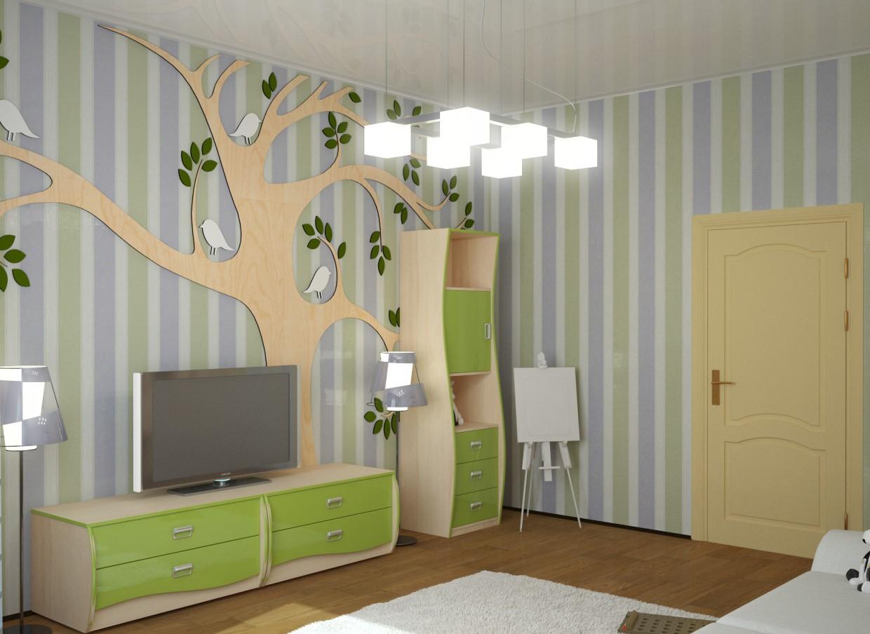 Игровая комната в 3d max vray изображение