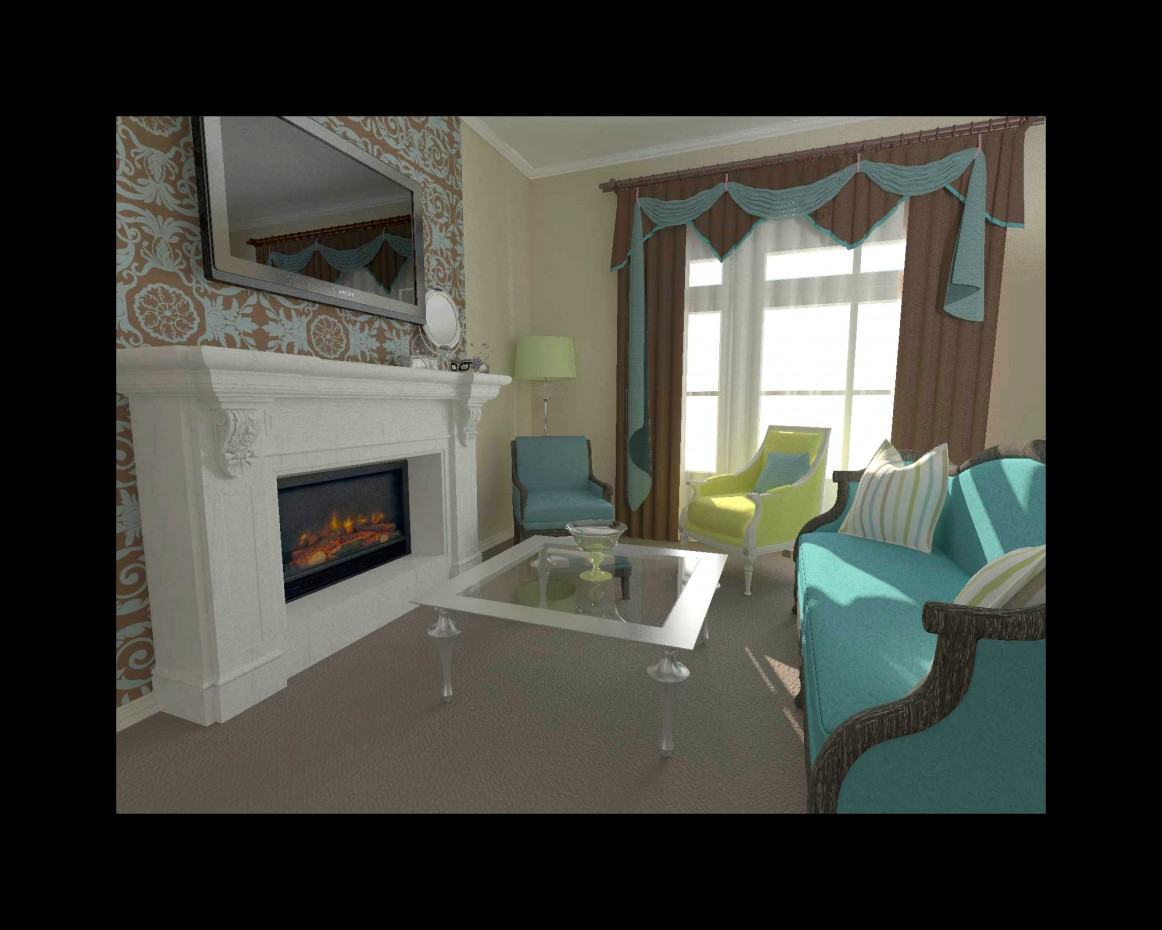 Turquoise classicism in 3d max vray image