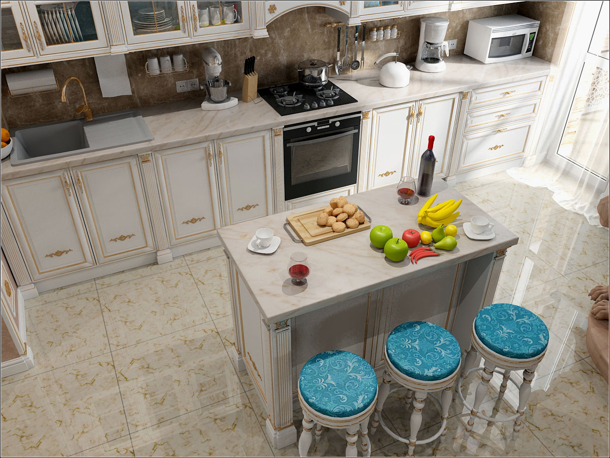 Kitchen interior design in Chernihiv in 3d max vray 1.5 image