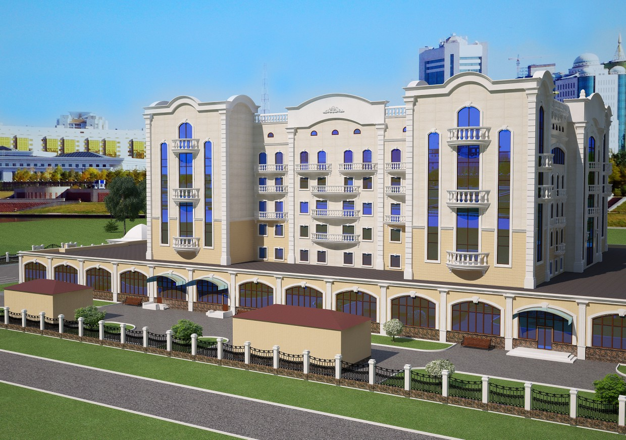 Hotel. in 3d max vray image