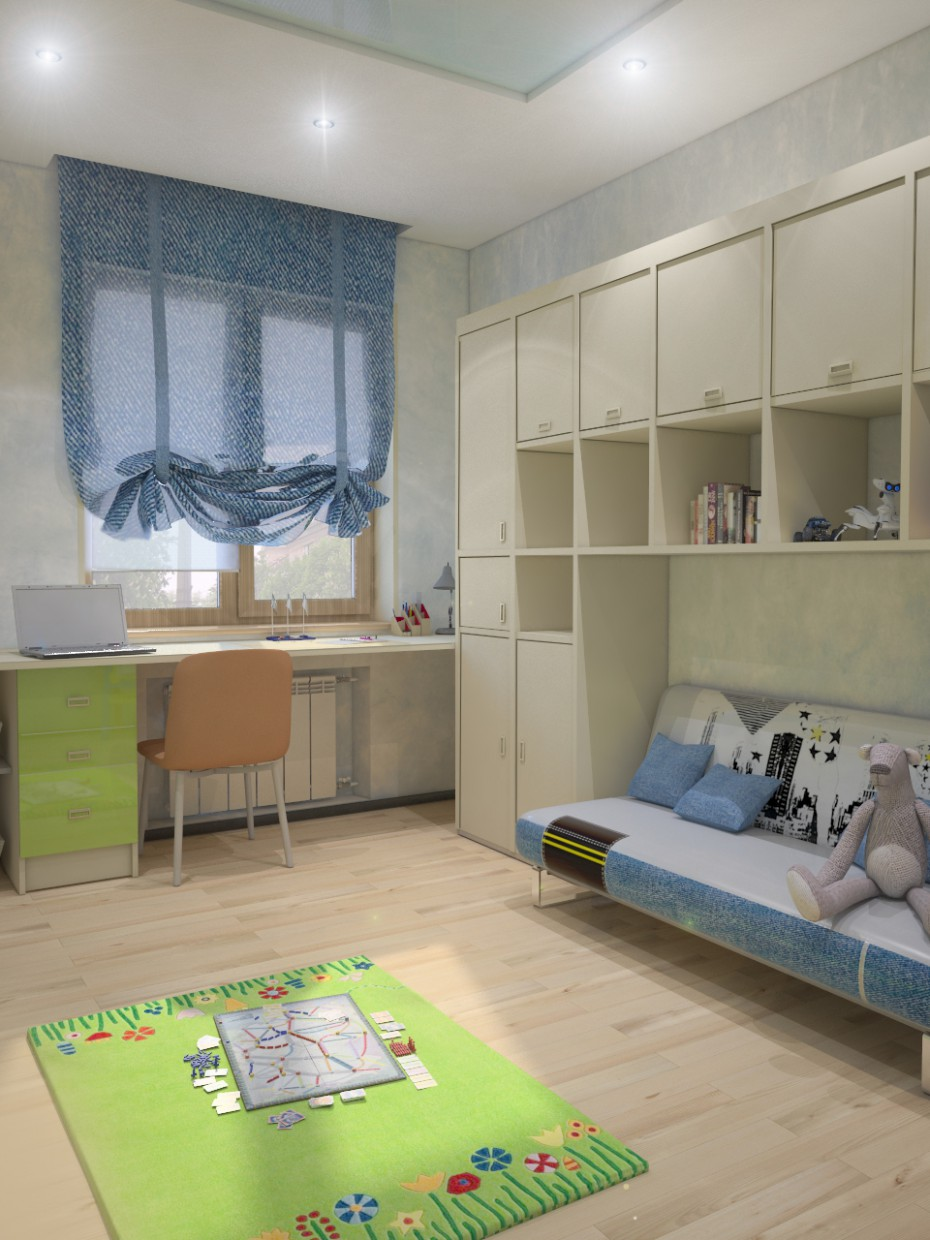 Room for a boy  in  3d max   vray  image