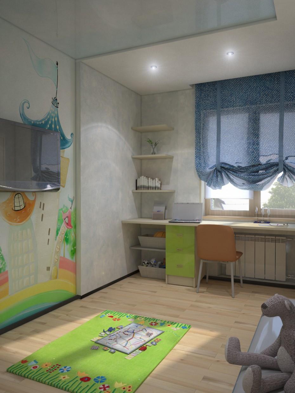 imagen de Habitacion para un chico en 3d max vray