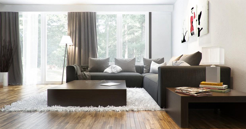 Living room в 3d max vray изображение