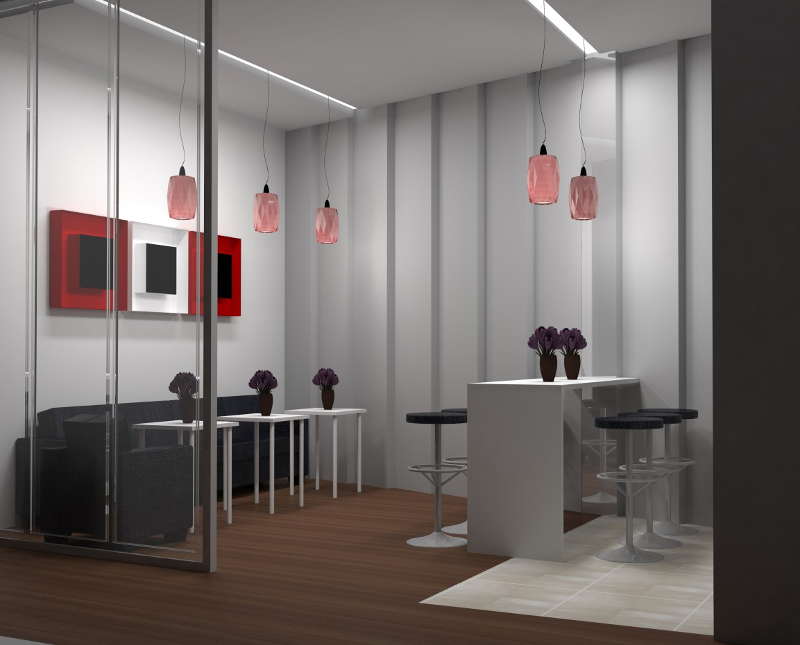офис в 3d max vray изображение