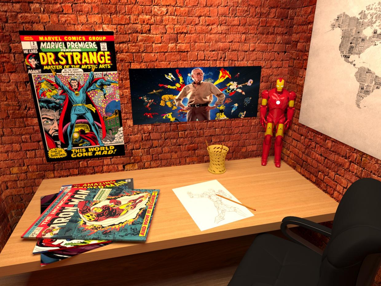 Marvel Fan Room in 3d max corona render image