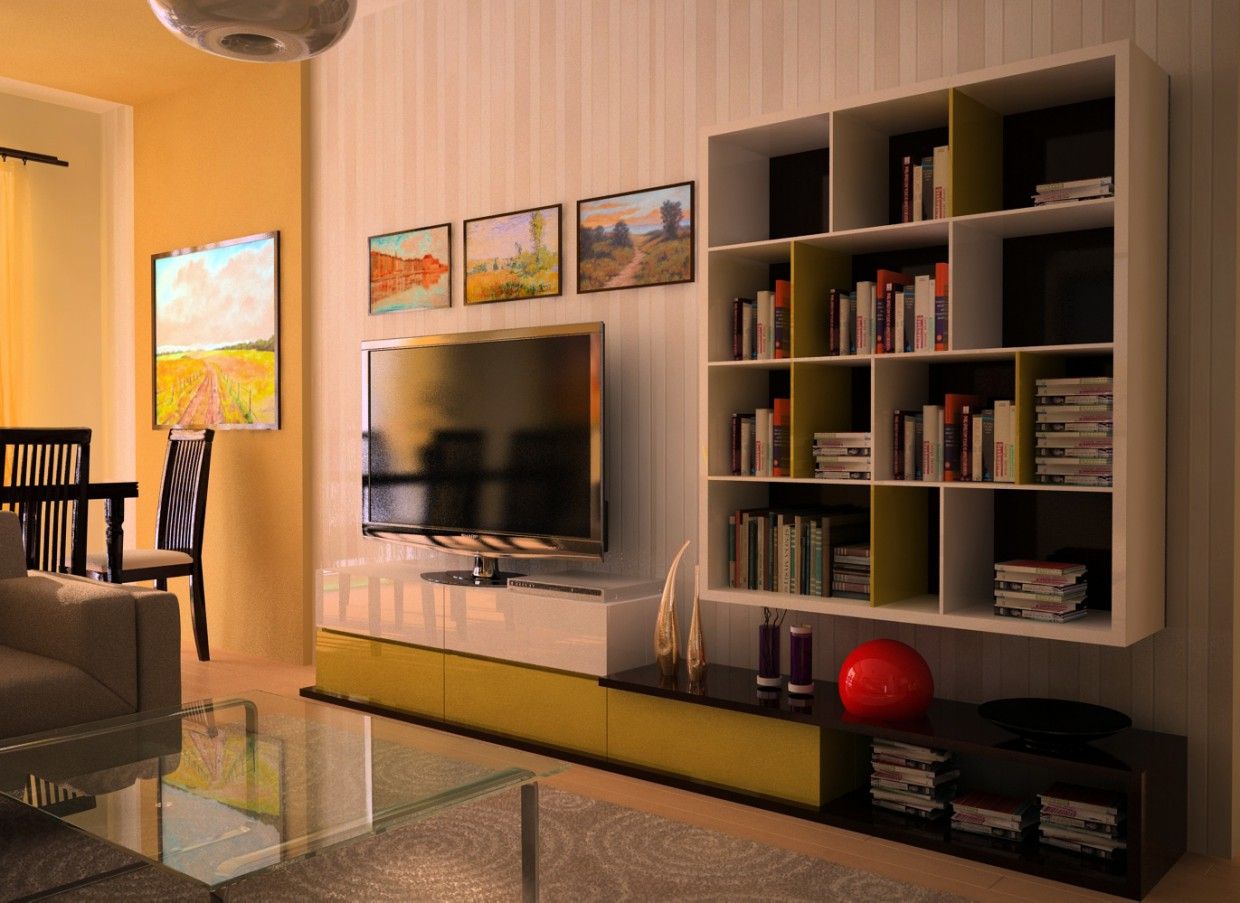SUCH A YELLOW DAY  in  3d max   vray  image