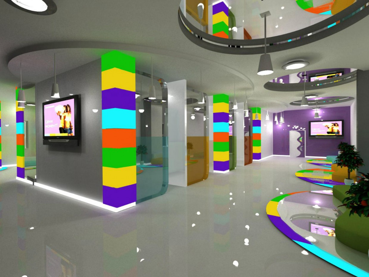 Communication Bank in 3d max vray image