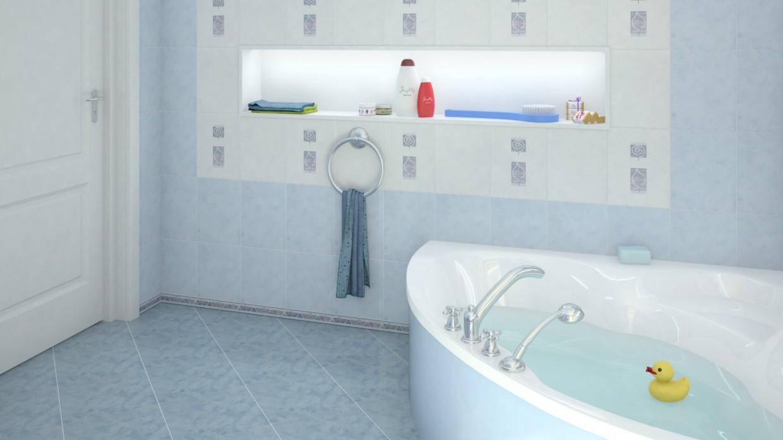 Голубая ванна в Maya vray изображение