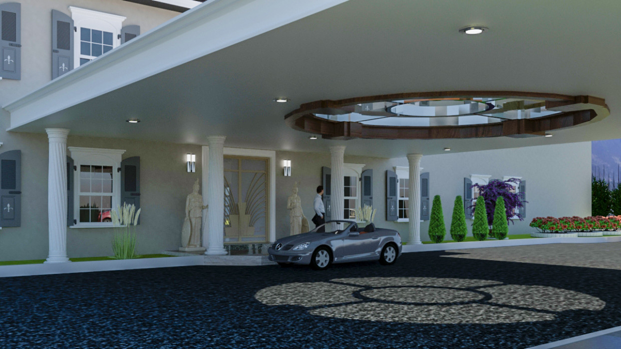 3d visualization of the project in the Income main residence 3d max, render vray 3.0 of Erwin del Cid