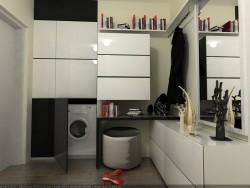 Máquina de lavado y zapatos
