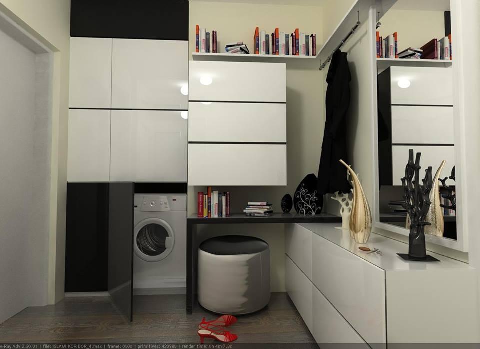 Обувь и стиральная машина в 3d max vray изображение