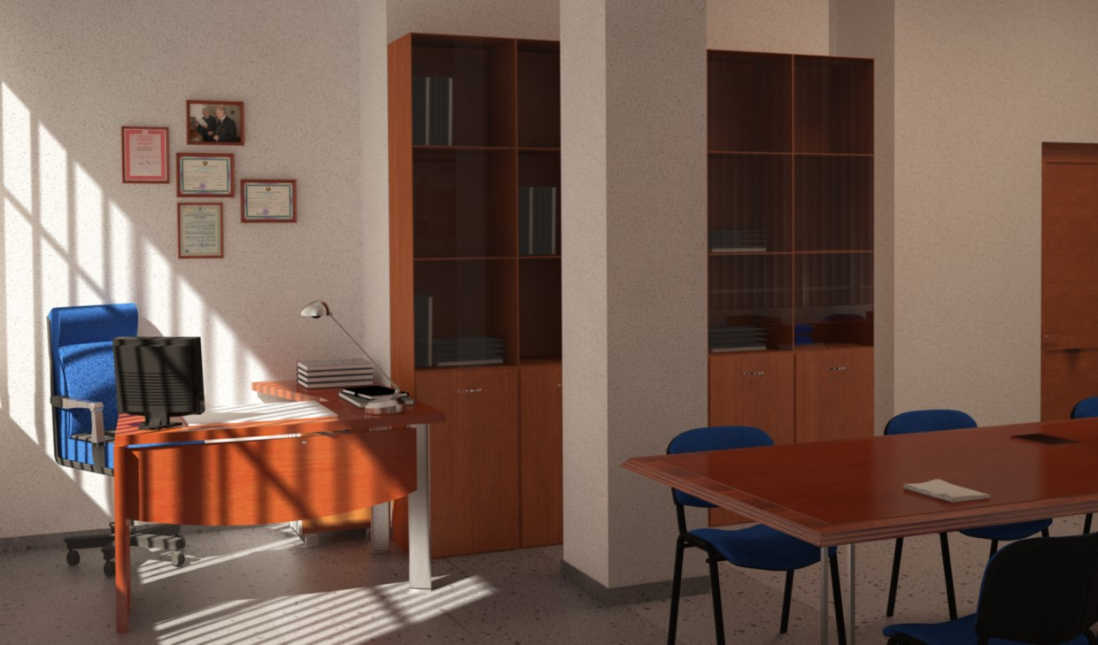 Study room in 3d max vray image