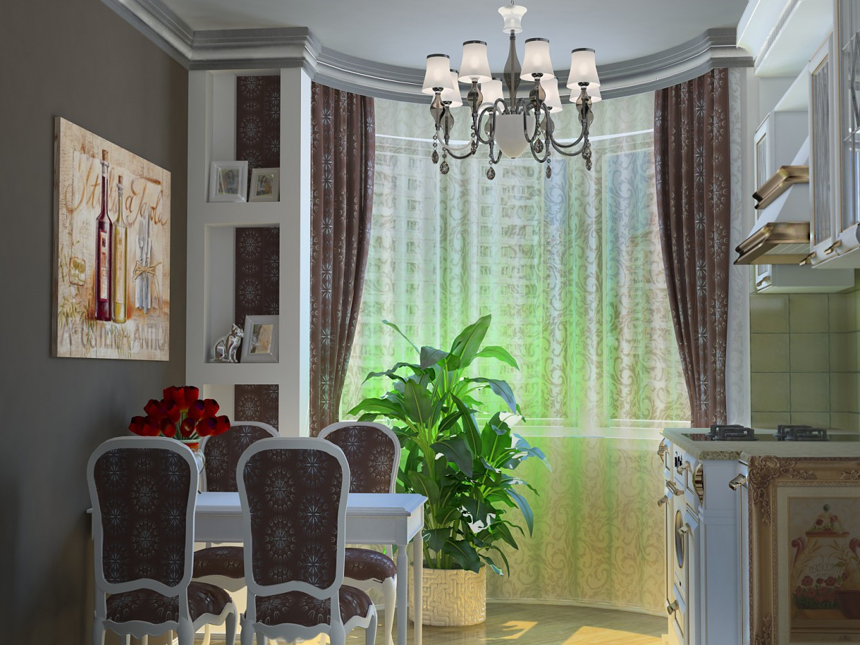 3d visualization of the project in the Kitchen 2 3d max, render vray of Полина Ходина