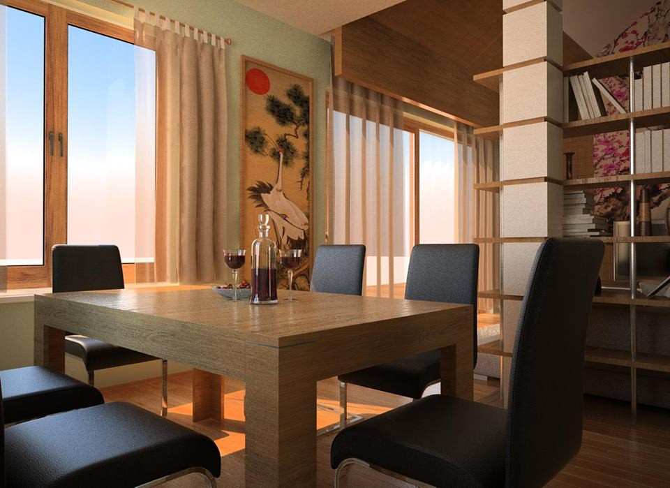 Oriental Meal in 3d max vray image