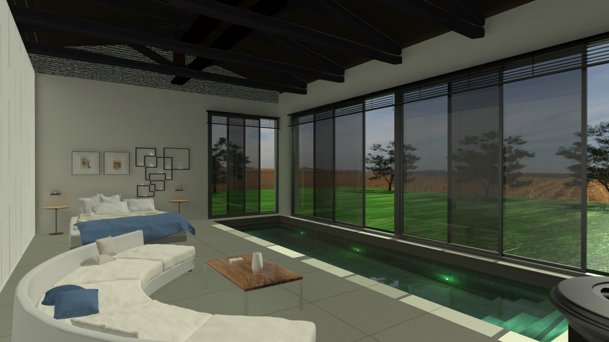 Country House Part Two Flat Extension in 3d max mental ray image