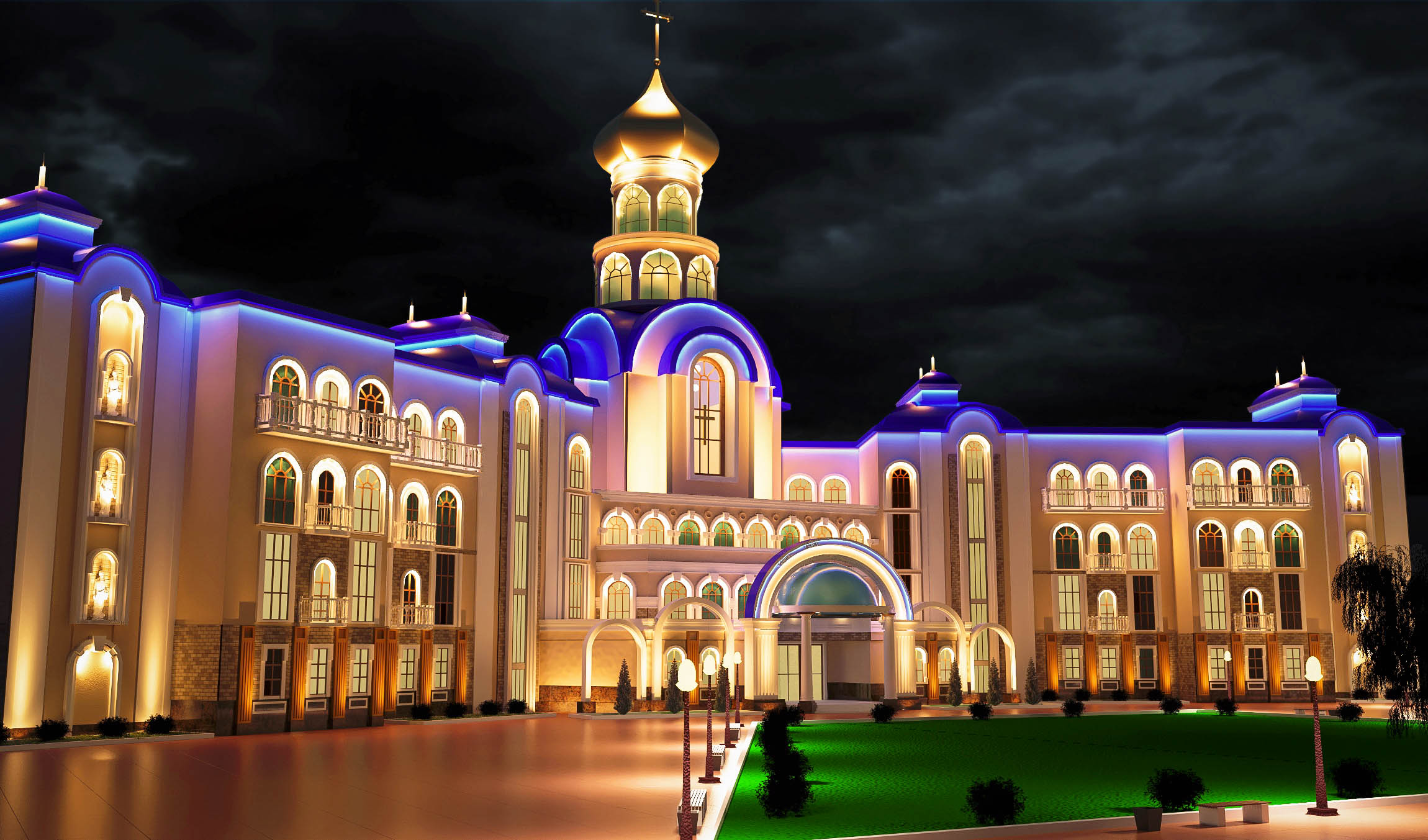 ODESSA CATHEDRAL SCHOOL (V-Ray) in 3d max vray 3.0 image