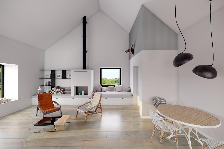 Cabin in the mountains in Croatia in 3d max corona render image