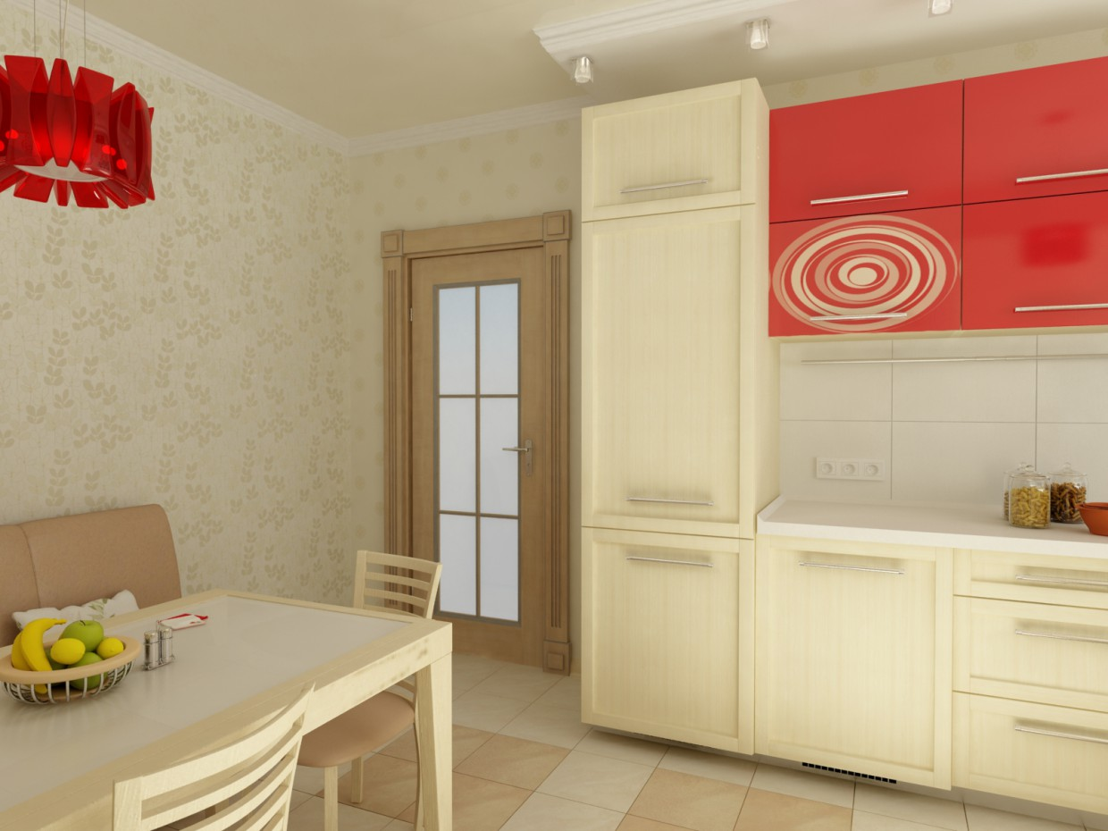 Light kitchen in 3d max vray image