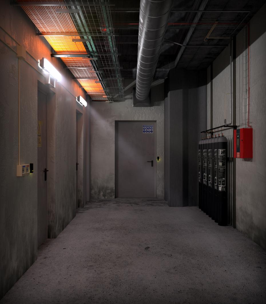 Hallway Facilities in 3d max vray 5.0 image