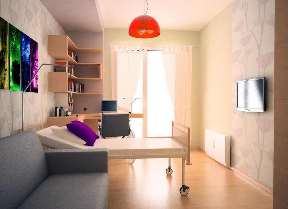 Stylish room in 3d max vray image