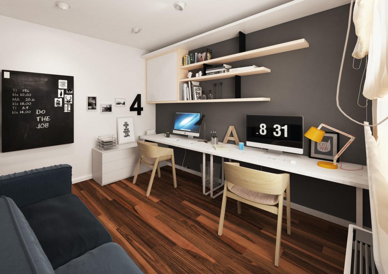 Робоча кімната в 3d max vray зображення
