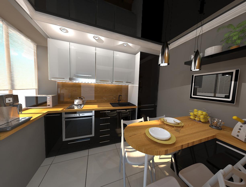visualización 3D del proyecto en el cocina 3d max render vray 3.0 nastymolodez