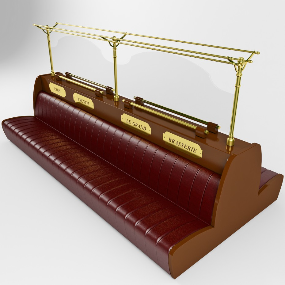 French sofa in 3d max vray image