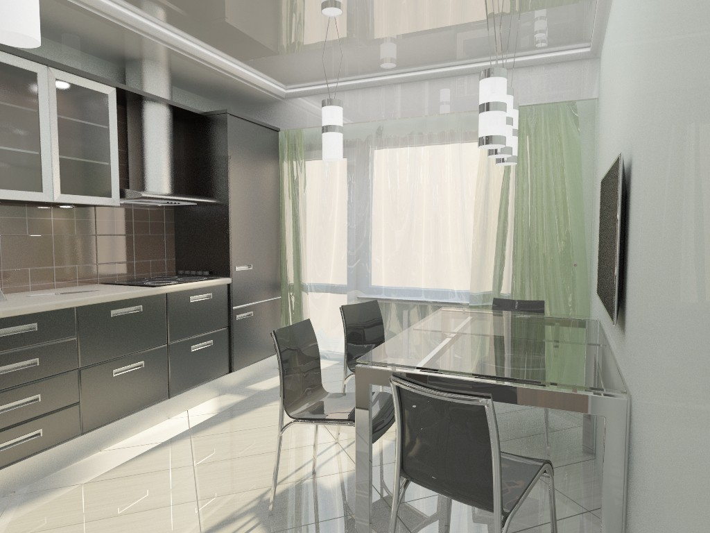 Metal kitchen  in  3d max   vray  image
