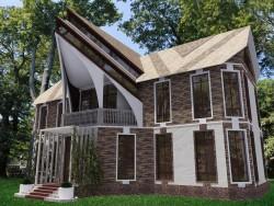 Das äußere eines Hauses