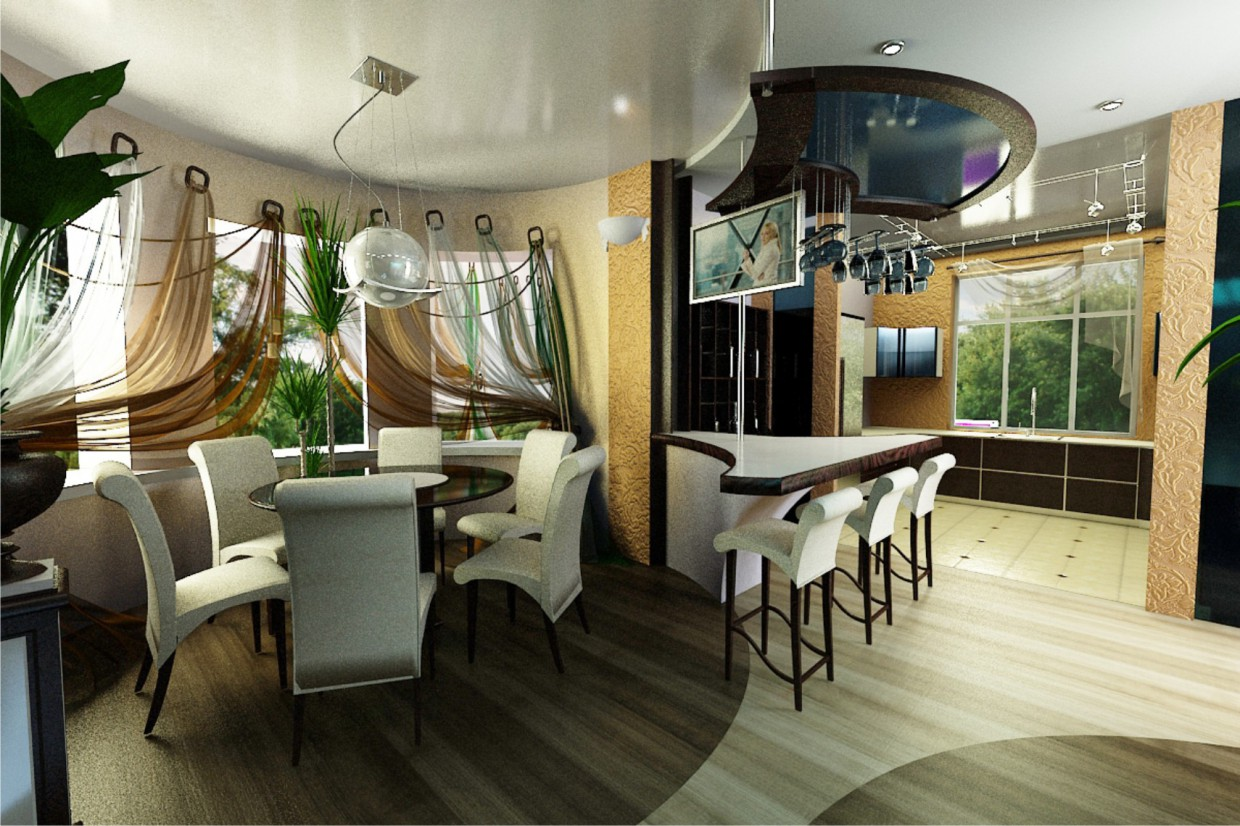 Dining Group in 3d max vray image