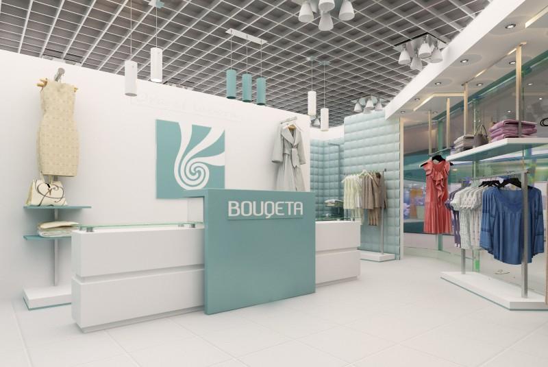 imagen de Tienda de ropa en 3d max vray