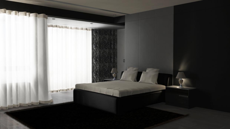 Rich man's room in Maya mental ray image