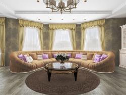 Sala de estar combinada con cocina