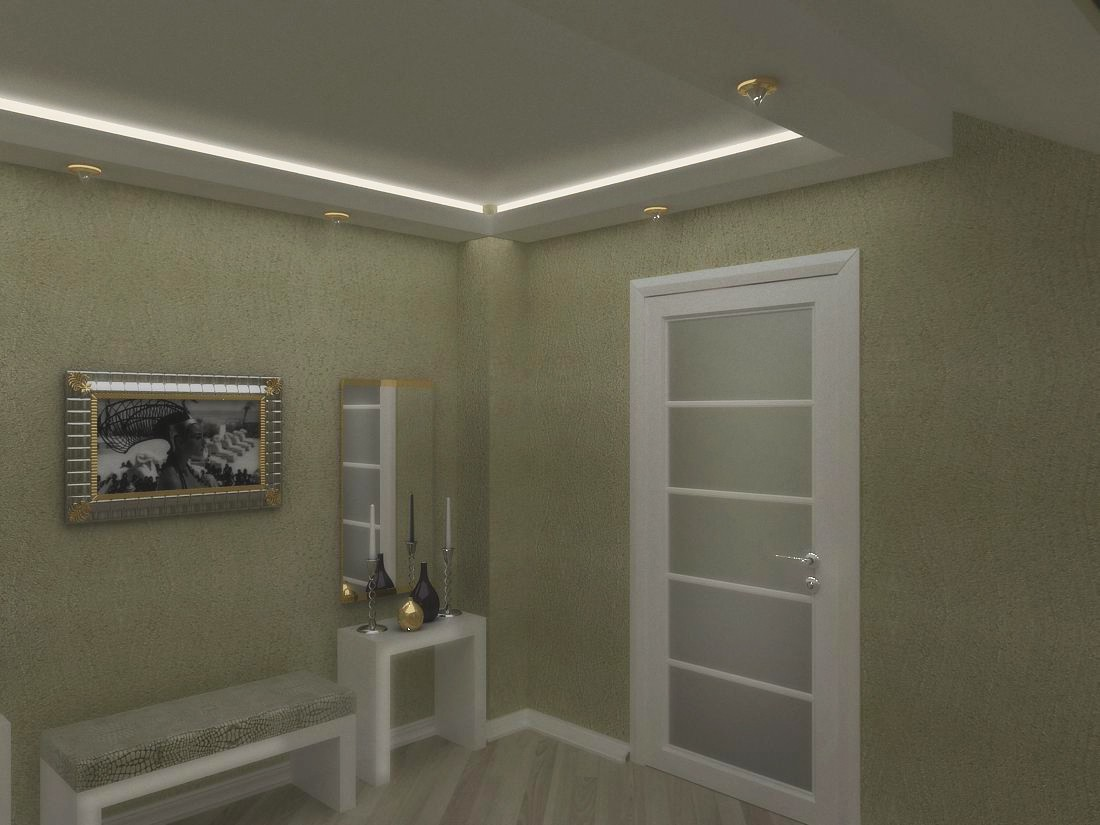 Stairs in a house with attic.  in  3d max   vray  image