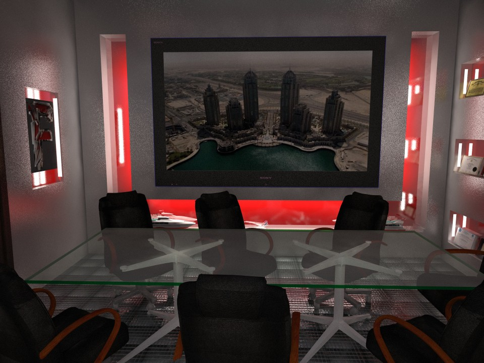 Офис будущего в 3d max vray изображение
