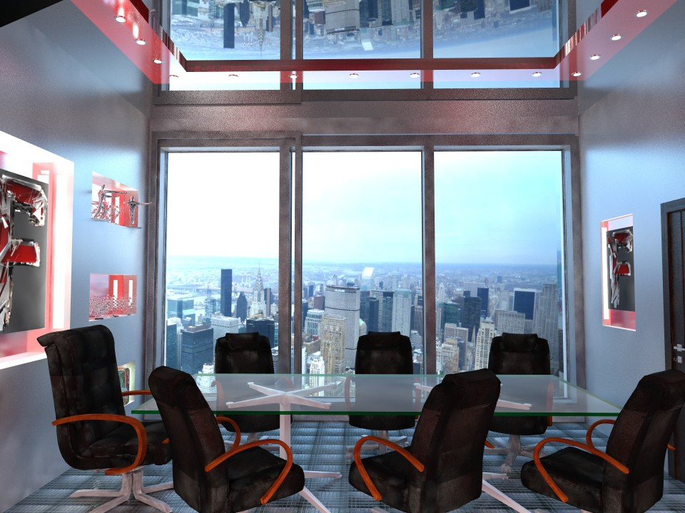 Office of the future in 3d max vray image