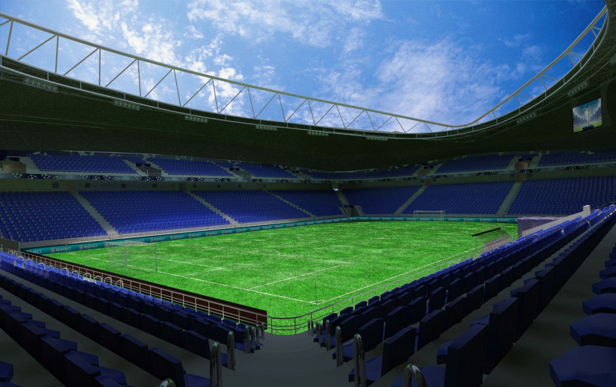 Stadium in 3d max mental ray image