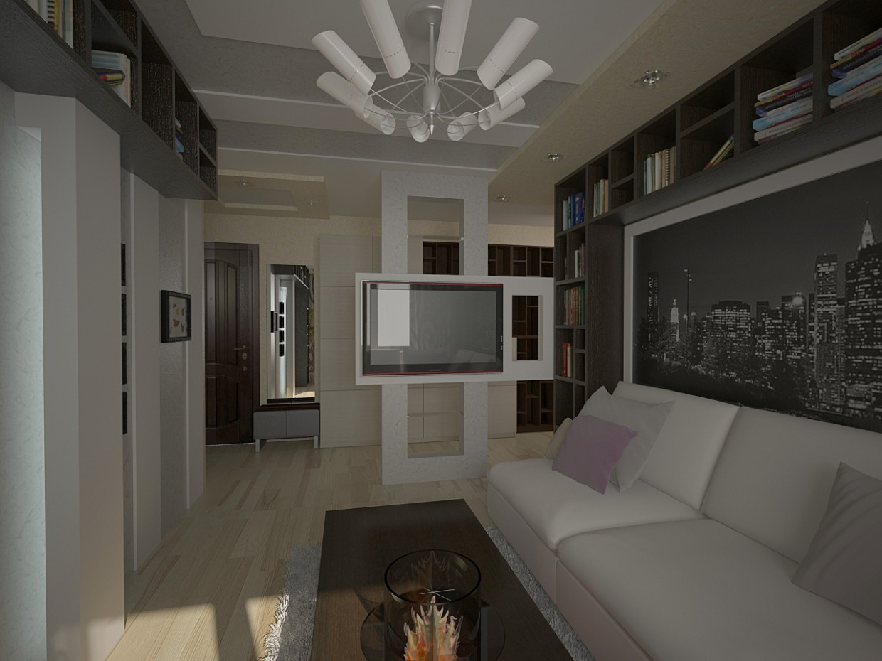Living room, two options in 3d max vray image