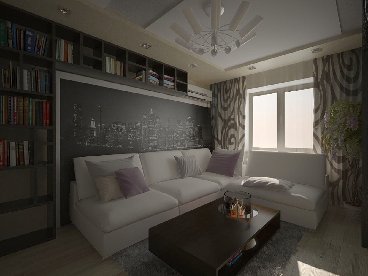 Living room two options design and visualization for Room decor visualizer