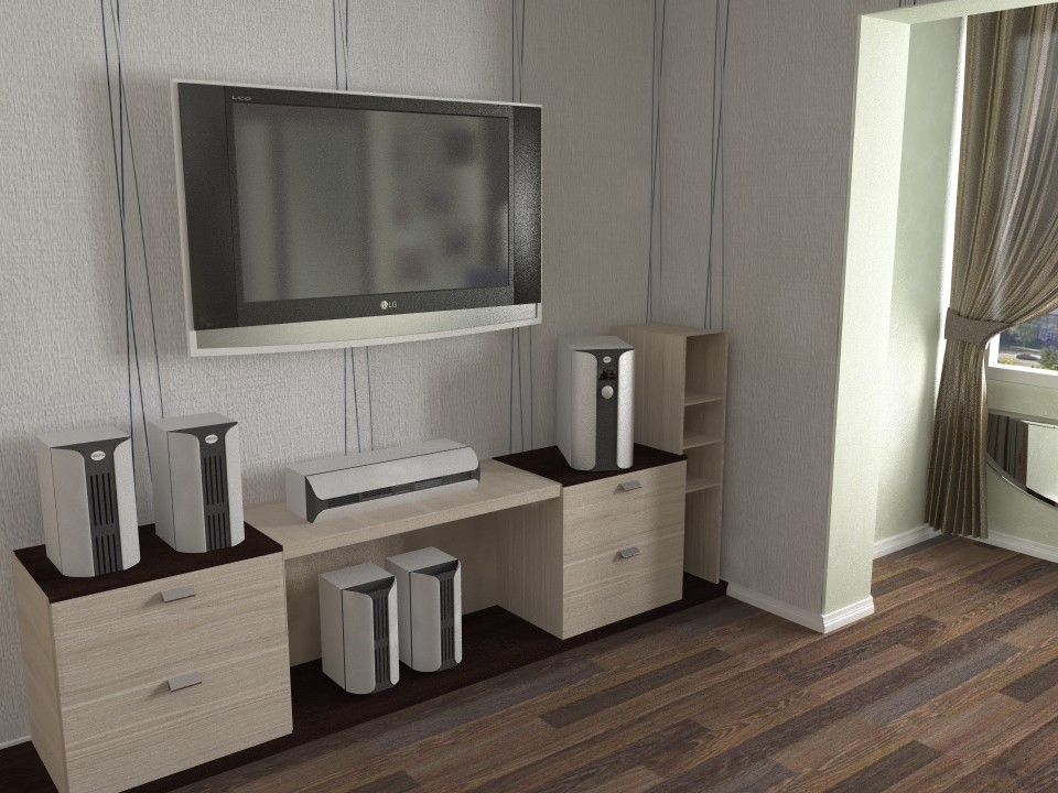 imagen de Apartamento de 1 habitación AGG PL 36 m2 en 3d max vray