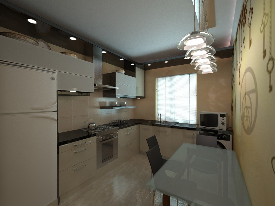 1-room apartment AGG PL 36 sq. m in 3d max vray image
