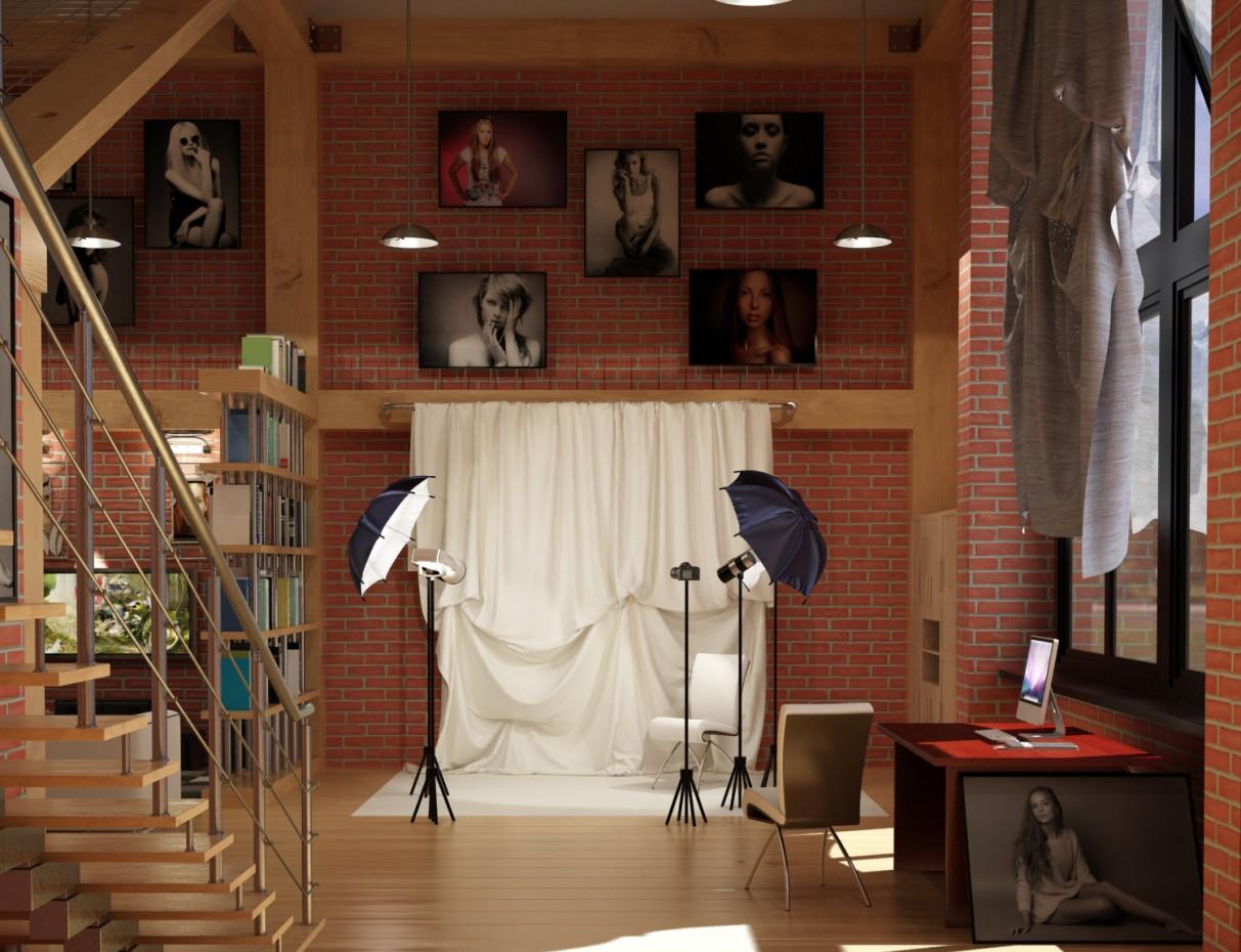 Apartamento Studio em 3d max vray imagem