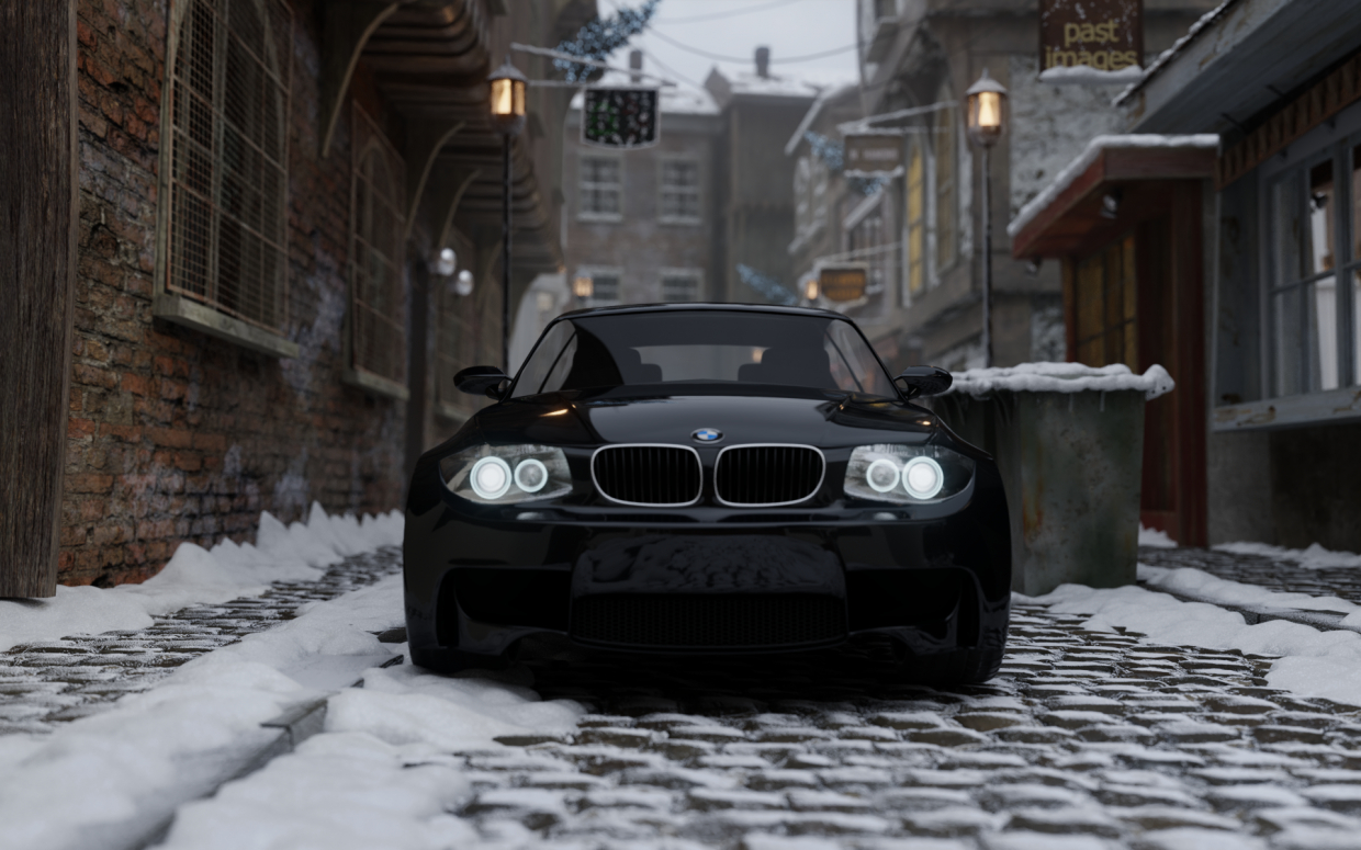 bmw in Blender cycles render image